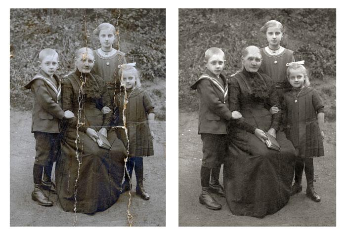 Familienfoto Restauration